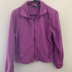 LL Bean Pink Fleece Jacket Full Zip Small sweater